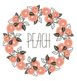 floral pattern with wreath from peach vector image vector image
