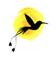 flying bird silhouette vector image vector image