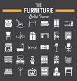 furniture solid icon set interior sign collection vector image vector image