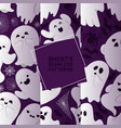 ghost seamless pattern cartoon scary spooky vector image vector image