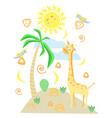 giraffe in scandinavian style vector image
