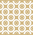 gold and white abstract floral seamless pattern vector image vector image