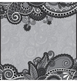 grey vintage floral ornamental template on flower vector image vector image