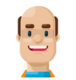 happy bald man flat icon vector image