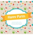Happy Purim Party Invitation design vector image vector image