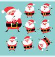 happy santa character design set vector image vector image