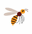 hornet insect isolated on vector image vector image