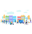 human life in moder city summer time activity vector image vector image