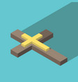 isometric christian cross vector image vector image