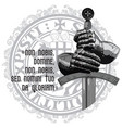 knight design armour gloves of the knight shield vector image vector image