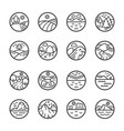 Landscape line icon set
