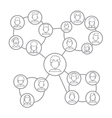 men and women connecting together via social vector image vector image