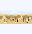 middle eastern cityscape scene flat vector image vector image