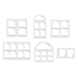 objects windows set vector image vector image