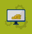 online forex trading vector image