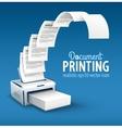 Printer printing copies of text vector image vector image