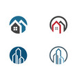property and construction logo design vector image