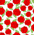Red rose seamless pattern Texture flower Floral vector image vector image