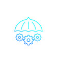risk management icon line vector image