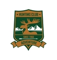 Rocky mountain elk badge for hunting design vector image vector image