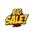 sale sign market store theme vector image vector image