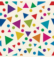 seamless pattern with colorful triangles and vector image vector image