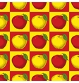 Seamless Pattern with Red and Yellow Apples vector image vector image