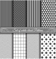 Set of black white Pattern vector image vector image