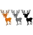 set of reindeer character vector image vector image