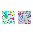 set retro vintage 80s or 90s fashion style vector image vector image