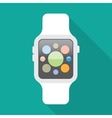 Smart watch flat icon vector image
