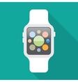 Smart watch flat icon vector image vector image