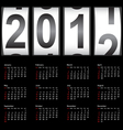 stylish calendar for 2012 sundays first vector image vector image