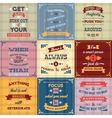 Success quotes set colored vector image vector image
