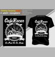 t shirt template cafe racer shirt designs biker vector image vector image