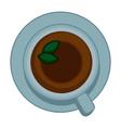 tea cup top view vector image