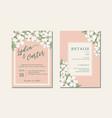 thai flowers wedding card design vector image vector image