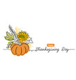 thanksgiving day one line art background