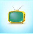 TV in cartoon style with bright color vector image