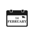 Valentine calendar icon in black color vector image vector image