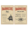 vintage barbecue party invitation bbq food flyer vector image vector image