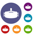 vr device icons set vector image vector image