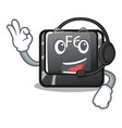with headphone f6 button installed on character vector image