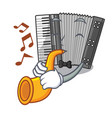 with trumpet miniature accrodion in the shape vector image