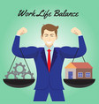 work life balance cogwheel and home hanging on vector image vector image