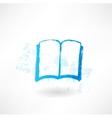 Open book grunge icon vector image