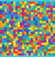 625 multicolor background jigsaw puzzle banner vector image vector image