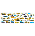 a large set of construction equipment vector image vector image