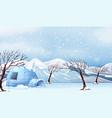 a white winter landscape vector image
