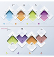 Abstract modern template infographics process vector image